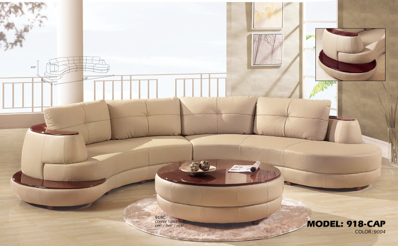 Global furniture 918 cappuccino sectional royal for Furniture outlet