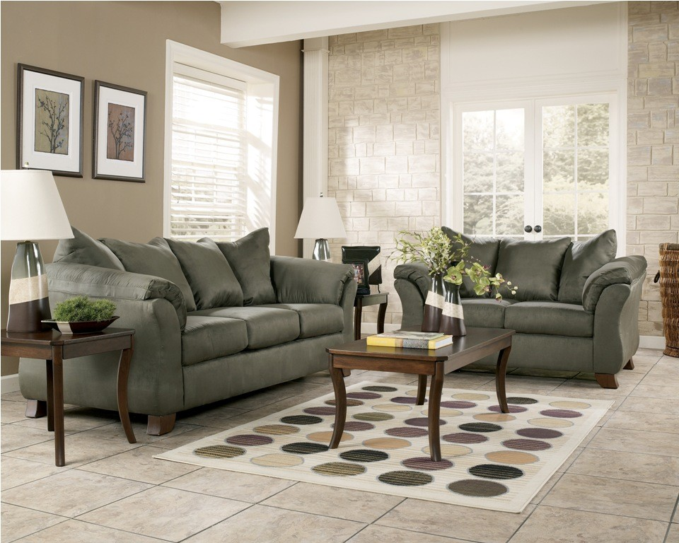 Ashley signature design durapella living room set for Living room furniture images