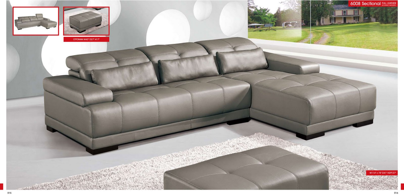 living room furniture sectionals 6008