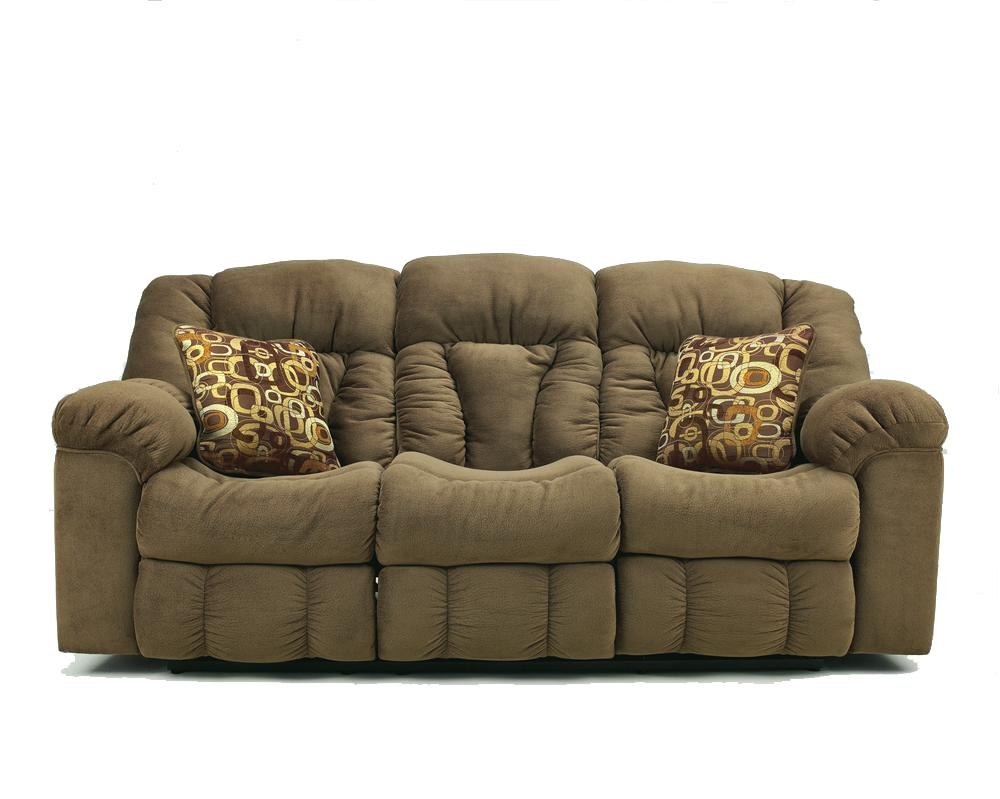 Ashley signature design macie 54601 brown reclining for Design sofa outlet
