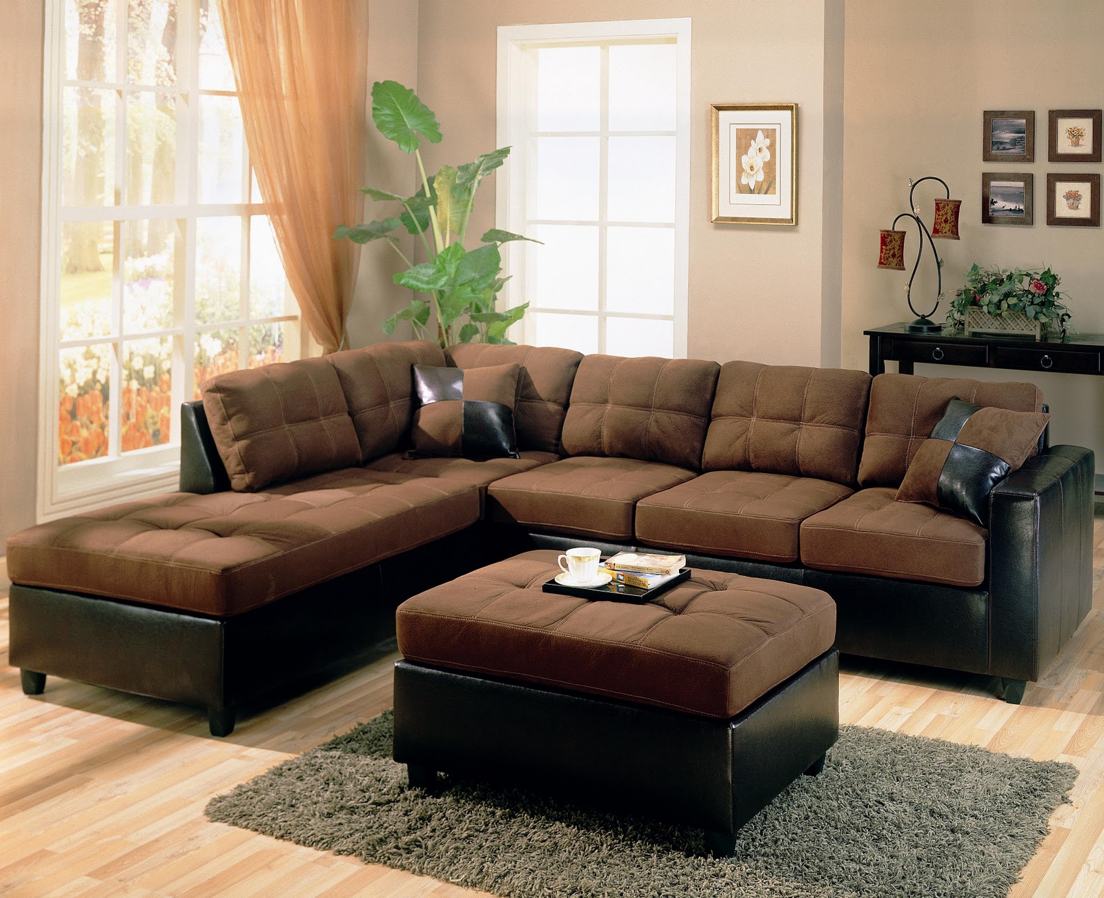 This Stylish Contemporary Sectional Sofa Will Be A Lovely Addition To You  Living Room Ensemble. The Generous Plush Seating Is Great For Everyday Use,  ...